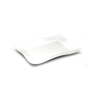 "12""x8-1/2"" Rectangular Plate, White Ceramic"