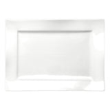"16""x12"" Rectangular Plate, White Ceramic"
