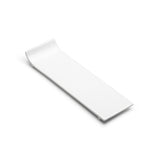 "12""x3-3/4"" Rectangular Plate, White Ceramic"