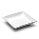 "7-1/4"" Square Plate, White Ceramic"