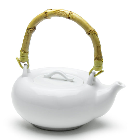 Teapot w/Bamboo Handle 7-1/2
