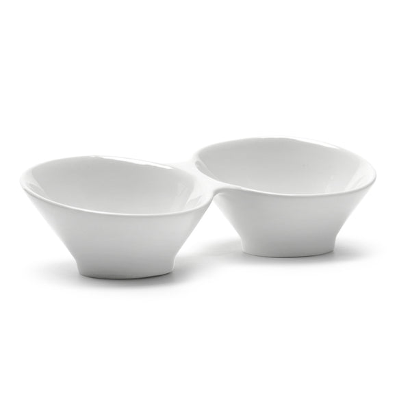 2-Compartment Sauce Bowl 7-3/4