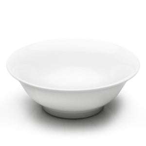 "10""Dx3-1/2""H Round Noodle Bowl , White Ceramic"