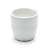 "Sake Cup 2""H, White Ceramic"