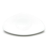 "11"" Triangular Plate, White Ceramic"