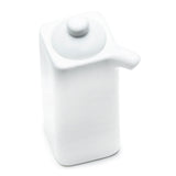 "Soy Sauce Pot 4"", White Ceramic"