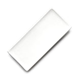 "8-1/4""x3-3/4"" Rectangular Plate, White Ceramic"