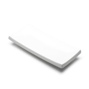 "10-7/8""x4-3/4"" Rectangular Plate, White Ceramic"