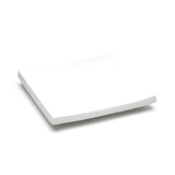 "10"" Square Plate, White Ceramic"