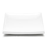 "14"" Square Platter , White Ceramic"