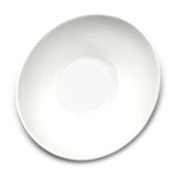 "11-1/2""x10-3/8"" Irregular Salad Bowl, White Ceramic"
