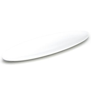"20""x6-1/4"" Oval Plate, White Ceramic"
