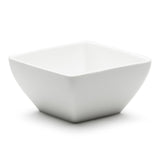 "6"" Square Salad Bowl , White Ceramic"