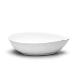 "8-1/2""x5-1/4"" Teardrop Bowl, White Ceramic"