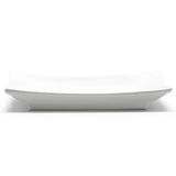 "6"" Square Plate, White Ceramic"