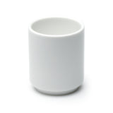 "2""H Sake Cup, White Ceramic"