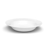 "10-1/2"" Round Wide-Rim Bowl, White Ceramic"