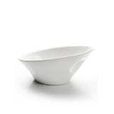 "6-1/4""x5-3/4"" Slanted Bowl, White Ceramic"