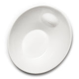 "10""x9"" Slanted Bowl, White Ceramic"