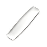 "12""x3-1/4"" Rectangular Plate, White Ceramic"