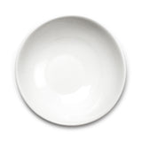 "7-1/2"" Slanted Bowl, White Ceramic"