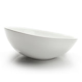 "9-1/4"" Slanted Bowl, White Ceramic"