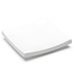 "7-3/4"" Square Plate, White Ceramic"