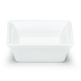 "5-1/8"" Square Bowl, White Ceramic"