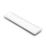 "16""x4-1/4"" Rectangular Plate, White Ceramic"