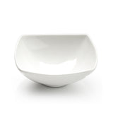 "9-5/8"" Square Bowl, White Ceramic"