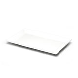"13""x8-1/2"" Rectangular Platter, White Ceramic"
