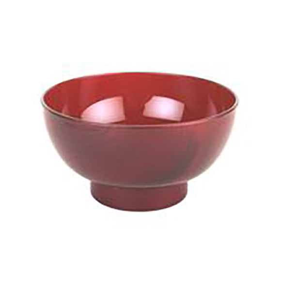 Lacquer Miso Soup Bowl, Red