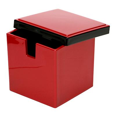 Lacquer Ginger Container, Red