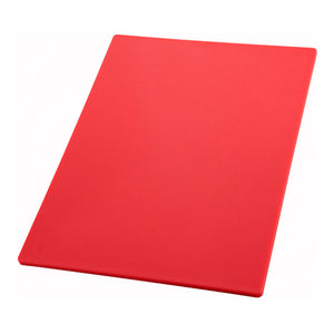 "Cutting Board 12""X18""X1/2"" Poly Red"