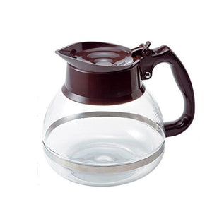 HARIO Glass Coffee Decanter 1800ml, Chocolate Brown