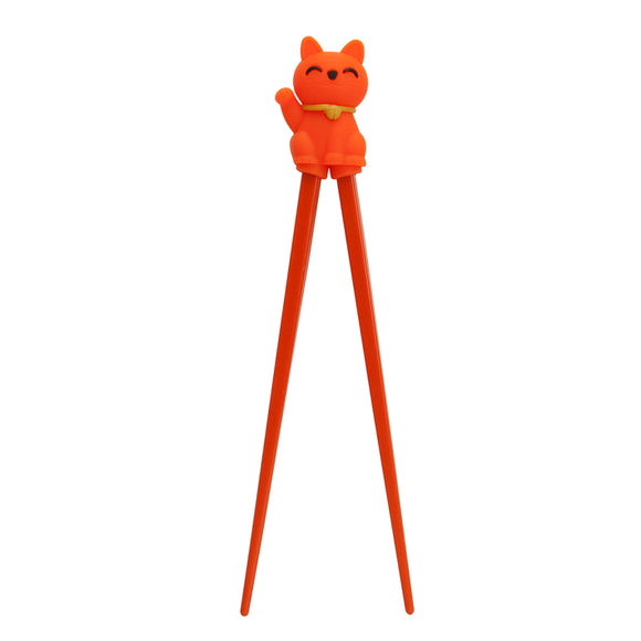 Kids Chopstick Cat , Orange