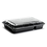 "Disposable Lunch Box (50pc) (Black) 10-5/8"" ED-8306"
