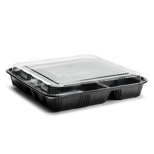 Disposable Lunch Box w/Lid (50pc) (Black) ED-8307