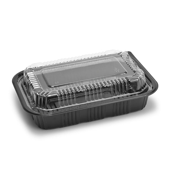 Sushi To-Go Container w/Lid (50Pc) (Black) 7-3/8