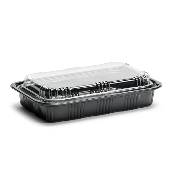 Sushi To-Go Container w/Lid (50Pc) (Black) 8-1/8
