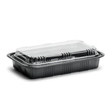 "Sushi To-Go Container w/Lid (50Pc) (Black) 8-1/8"" ED-8515"