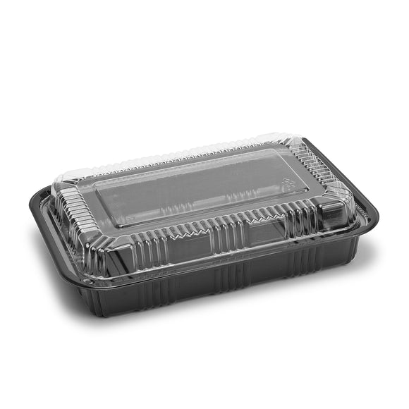 Sushi To-Go Container w/Lid (50Pc) (Black) 8-1/2