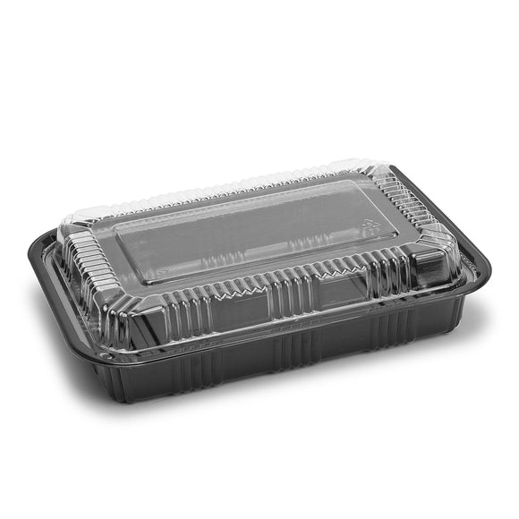 Sushi To-Go Container w/Lid (50pc) (Black) ED-8525