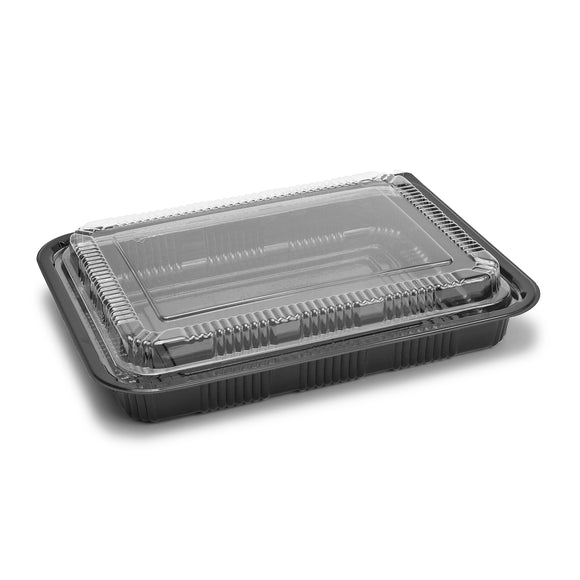 Sushi To-Go Container w/Lid (50Pc) (Black) 10-3/8