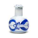 Porcelain Soy Sauce Dispenser, Blue/White