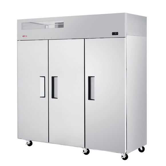 Turbo Air E-line Reach-in Freezer, Solid Door, 3 Section, 77