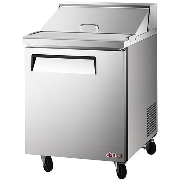 Turbo Air E-line Sandwich/Salad Unit, 1 Section, 8 Pans, 27
