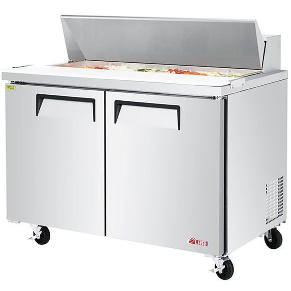 Turbo Air E-line Sandwich/Salad Unit, 2 Section, 12 Pans, 48