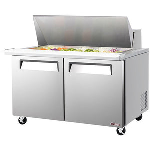 "Turbo Air E-line Sandwich/Salad Unit, 2 Section, 24 Pans, 60""W"