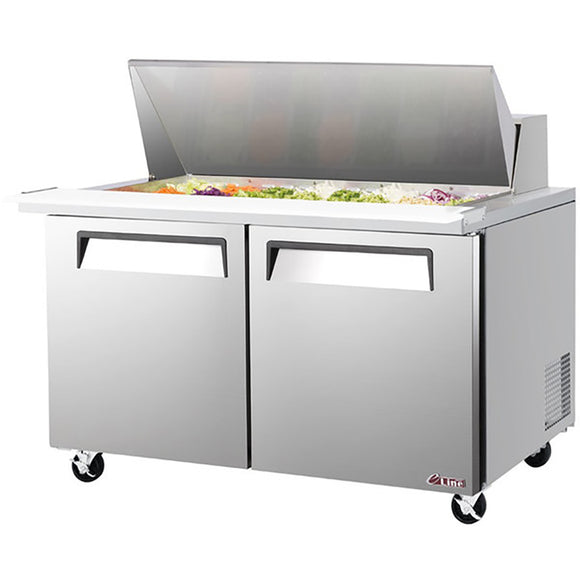 Turbo Air E-line Sandwich/Salad Unit, 2 Section, 24 Pans, 60